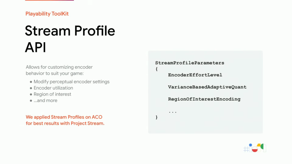 API de profile de diffusion