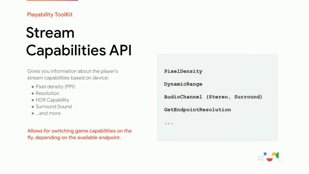 API des capacités de diffusion