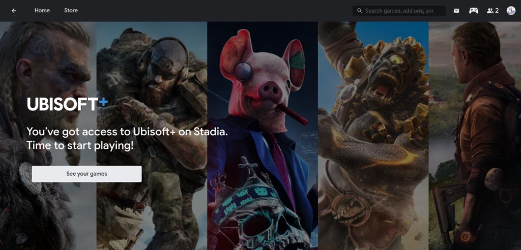 La gestion de l'abonnement Ubisoft+ au sein de Stadia repose sur des briques invisibles pour l'utilisateur final